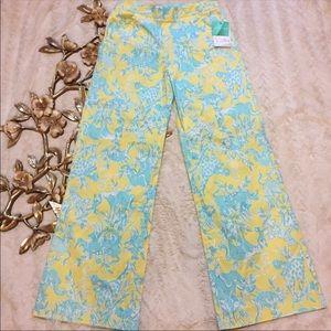 NWT Lilly Pulitzer Bahama Sunshine Junkanoo Pants